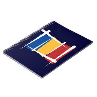 Bandera del cepillo de Rumania Libreta
