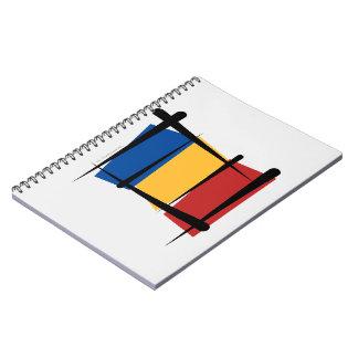 Bandera del cepillo de Rumania Libros De Apuntes