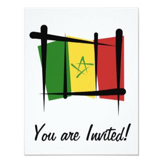 """Bandera del cepillo de Senegal Invitación 4.25"""" X 5.5"""""""