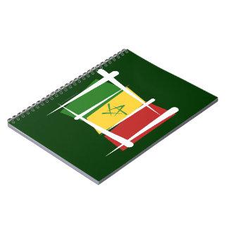 Bandera del cepillo de Senegal Libreta