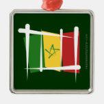 Bandera del cepillo de Senegal Ornato
