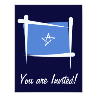 """Bandera del cepillo de Somalia Invitación 4.25"""" X 5.5"""""""