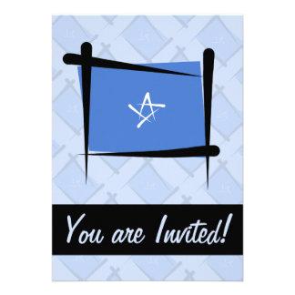 Bandera del cepillo de Somalia Comunicado Personal