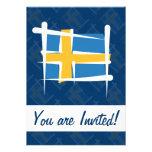Bandera del cepillo de Suecia