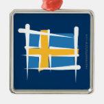 Bandera del cepillo de Suecia Adorno