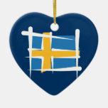 Bandera del cepillo de Suecia Adornos