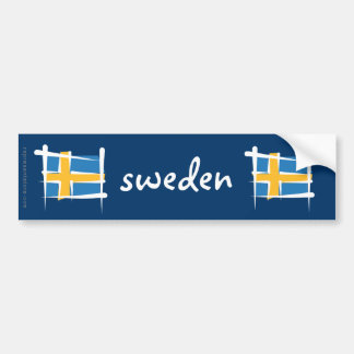 Bandera del cepillo de Suecia Pegatina Para Auto