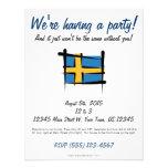 Bandera del cepillo de Suecia Comunicado
