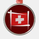 Bandera del cepillo de Suiza Adorno