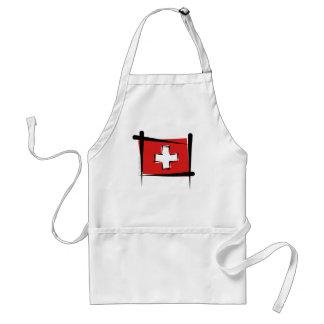 Bandera del cepillo de Suiza Delantal