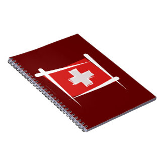 Bandera del cepillo de Suiza Libros De Apuntes