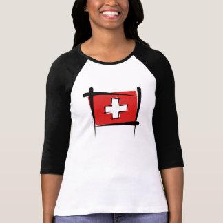 Bandera del cepillo de Suiza Camiseta