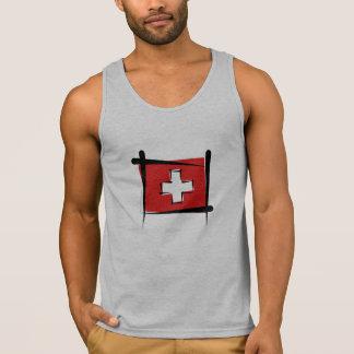Bandera del cepillo de Suiza Top Sin Mangas