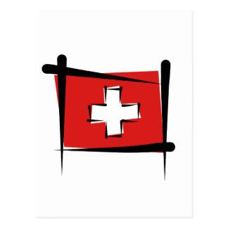 Bandera del cepillo de Suiza Postales
