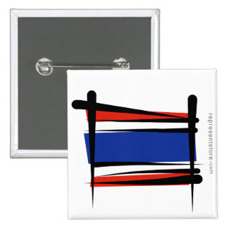 Bandera del cepillo de Tailandia Pin