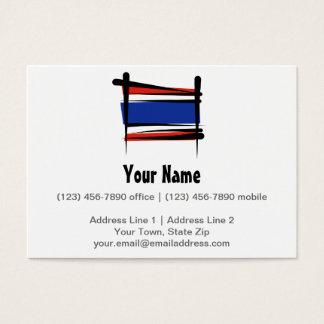 Bandera del cepillo de Tailandia Tarjetas De Visita Grandes