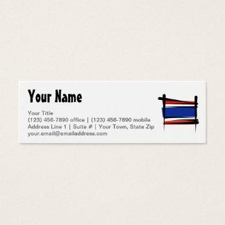 Bandera del cepillo de Tailandia Tarjetas De Visita Mini