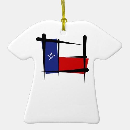 Bandera del cepillo de Tejas Adorno Navideño De Cerámica En Forma De Playera