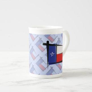 Bandera del cepillo de Tejas Taza De Porcelana