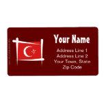 Bandera del cepillo de Turquía Etiquetas De Envío