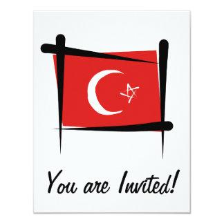 """Bandera del cepillo de Turquía Invitación 4.25"""" X 5.5"""""""