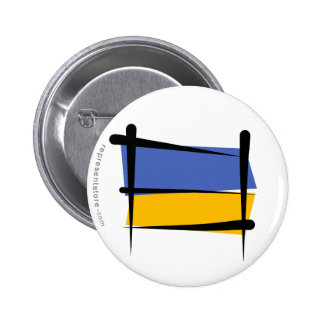 Bandera del cepillo de Ucrania Pins