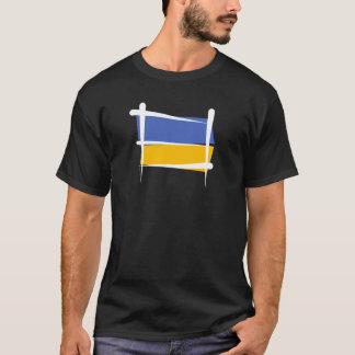 Bandera del cepillo de Ucrania Playera