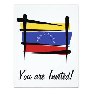 """Bandera del cepillo de Venezuela Invitación 4.25"""" X 5.5"""""""