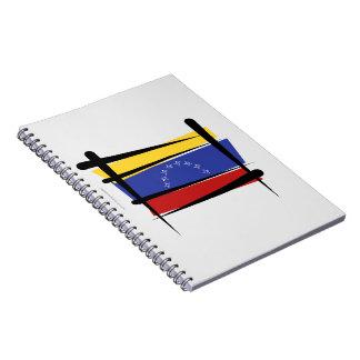 Bandera del cepillo de Venezuela Libreta