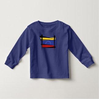 Bandera del cepillo de Venezuela Playera De Manga Larga De Niño