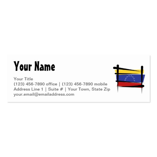 Bandera del cepillo de Venezuela Tarjetas De Visita Mini