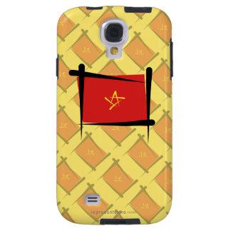 Bandera del cepillo de Vietnam Funda Galaxy S4