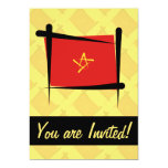 Bandera del cepillo de Vietnam Invitación 12,7 X 17,8 Cm
