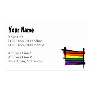 Bandera del cepillo del arco iris tarjetas de visita