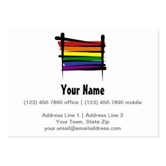 Bandera del cepillo del arco iris tarjetas de visita grandes