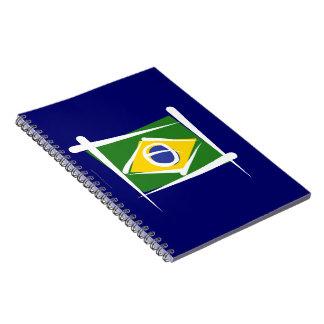 Bandera del cepillo del Brasil Libretas