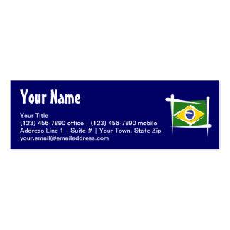 Bandera del cepillo del Brasil Tarjetas De Visita Mini
