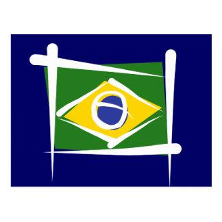 Bandera del cepillo del Brasil Tarjetas Postales