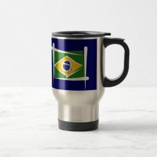 Bandera del cepillo del Brasil Tazas