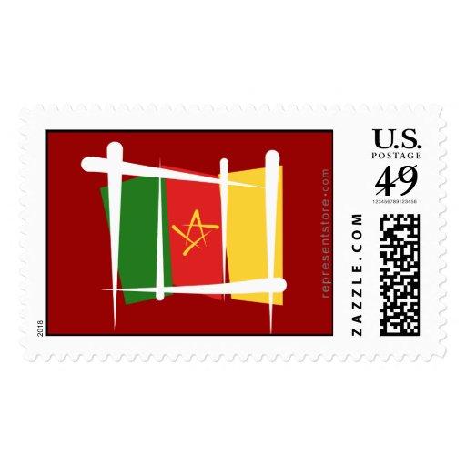 Bandera del cepillo del Camerún