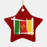 Bandera del cepillo del Camerún Adorno