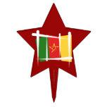 Bandera del cepillo del Camerún Figura Para Tarta