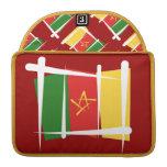 Bandera del cepillo del Camerún Funda Macbook Pro