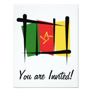 """Bandera del cepillo del Camerún Invitación 4.25"""" X 5.5"""""""