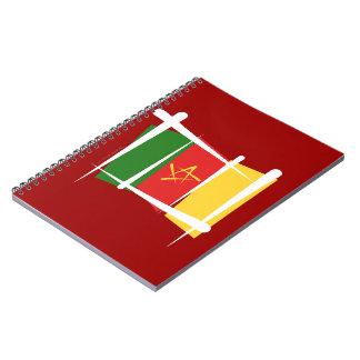 Bandera del cepillo del Camerún Libro De Apuntes Con Espiral