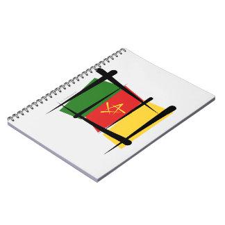 Bandera del cepillo del Camerún Libros De Apuntes