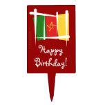 Bandera del cepillo del Camerún Palillos De Tarta