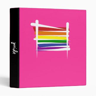 "Bandera del cepillo del orgullo gay del arco iris carpeta 1"""
