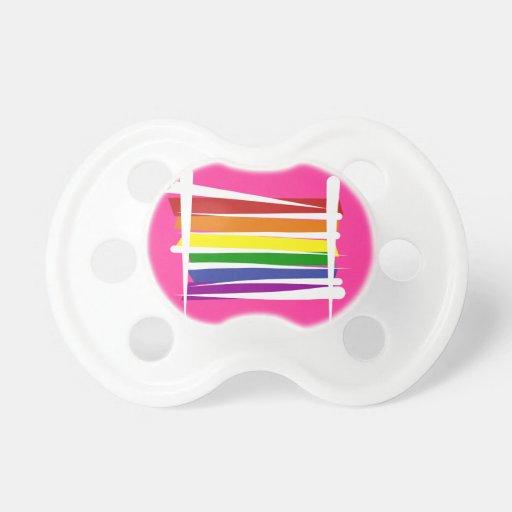 Bandera del cepillo del orgullo gay del arco iris chupetes para bebes