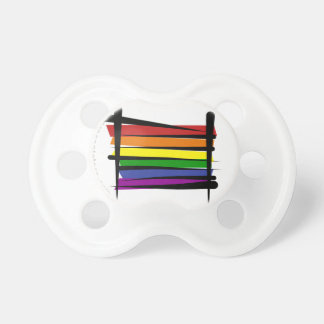 Bandera del cepillo del orgullo gay del arco iris chupete de bebé